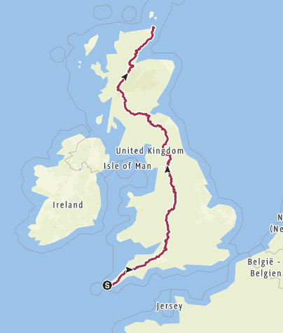 Map / LEJOG (75% of it is accurate to footpaths)
