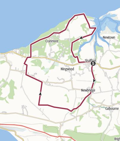 Map / Cath - Shalfleet to Bouldnor