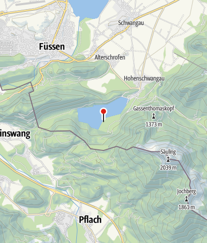 Karte / Freibad am Alpsee
