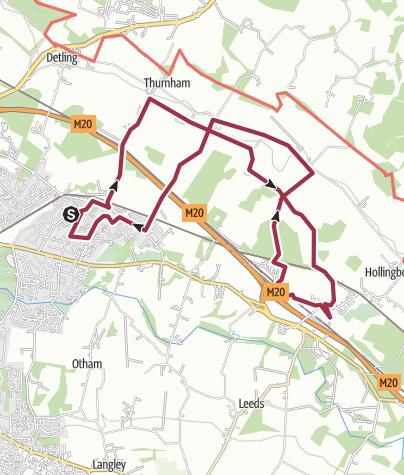 Map / 10 Mile Random Tour of Bearsted Walk