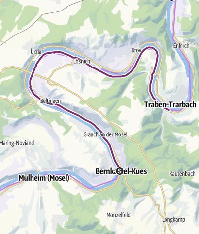 Karte / Mosel-Radweg Etappe 7: Bernkastel-Kues bis Traben-Trarbach (22,2 km)