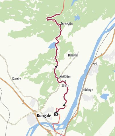 Map / Bohusleden – Etappe 5 – Fontin bis Grandalen