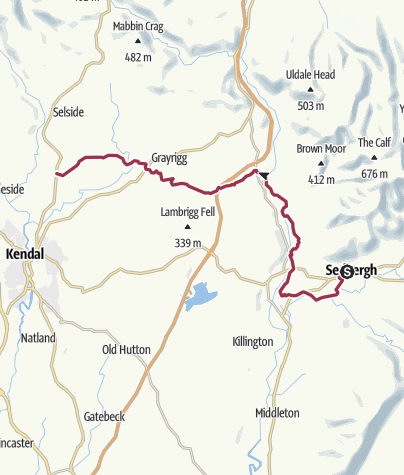Map / Dales Way 3 Sedbergh to Kendal (A6)