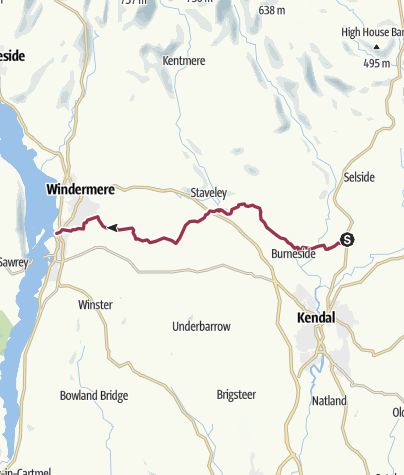 Map / Dales Way 4 Kendal (A6) to Windermere