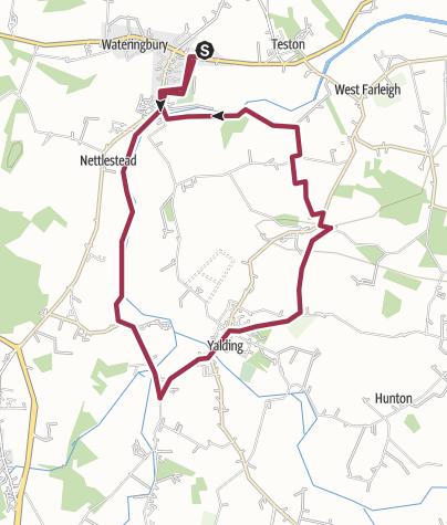 Map / Wateringbury to Yalding loop 7.5 miles