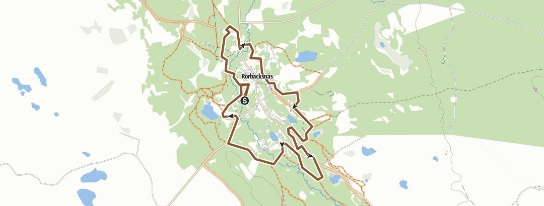 Map / Rörbäcksnäs - Byrundan