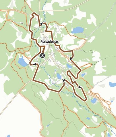 Mapa / Rörbäcksnäs - Byrundan