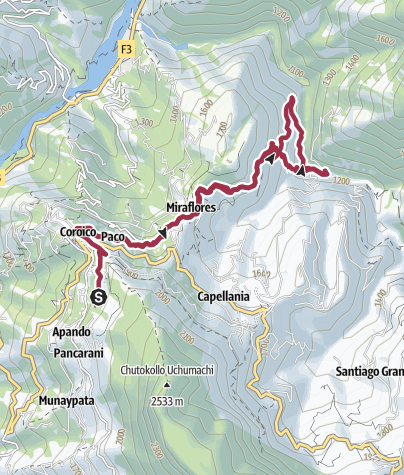Mapa / Route to Las Pozas de Vagantes Dec 2017 07:09:25