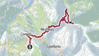 Map / Route to Las Pozas de Vagantes Dec 2017 07:09:25