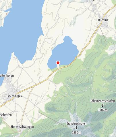 Karte / Fahrradverleih am Camping Bannwaldsee