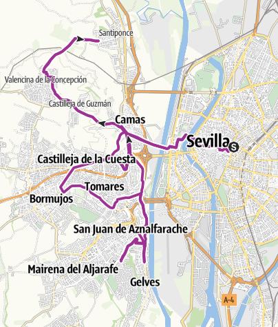 Map / Seis cuestas de Sevilla