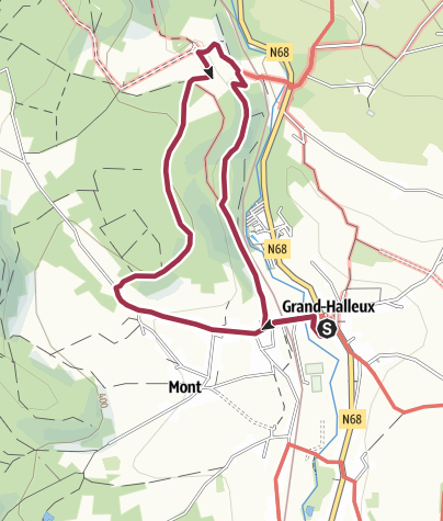 Map / Wandeling Grand-Halleux 6,4 km