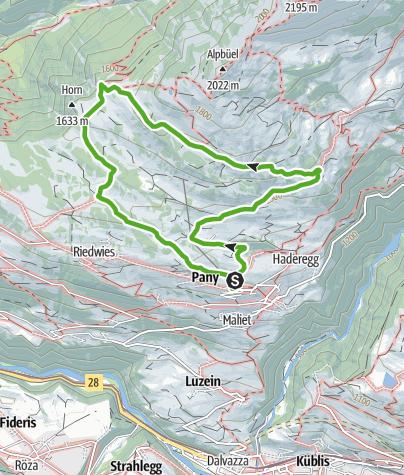 Map / Maiensäss-Rundwanderung Pany - Galondis