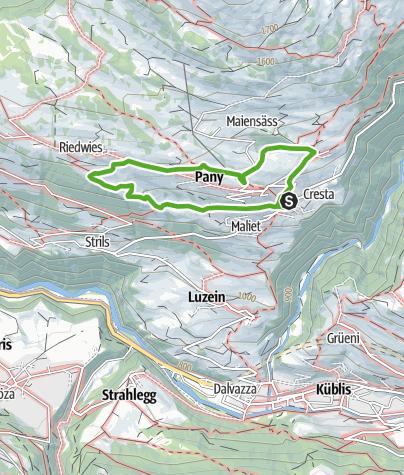 Map / Grosser Spaziergang rund um Pany