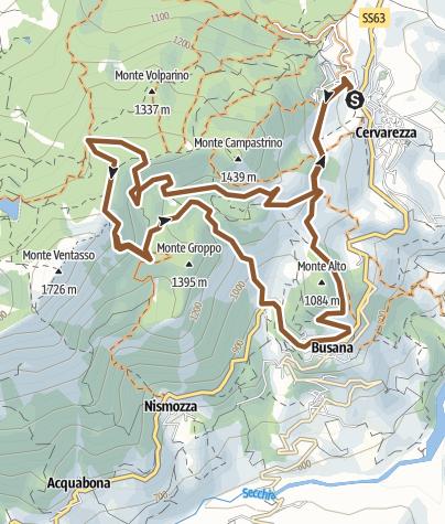 Map / Anello Cervarezza - Rifugio Maddalena