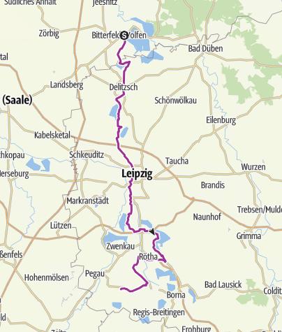 Karte / KOHLE I DAMPF I LICHT-Radroute