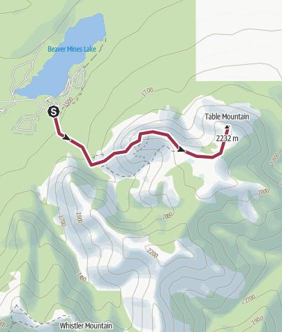 Map / Table Mtn May 29/16
