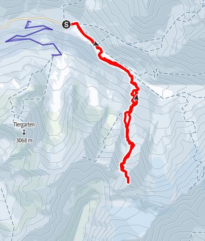 Map / Roter Kopf (3.246 m) - Einsamer Gipfel im Langtauferertal