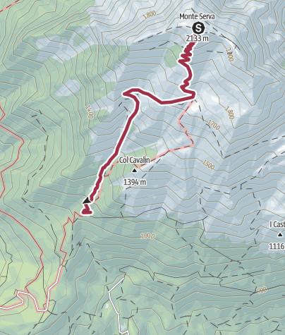 Map / Itinerario discesa Serva, 14 Dic 2016