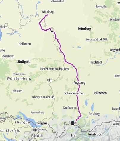 Map / 2 - Würzburg - Fussen