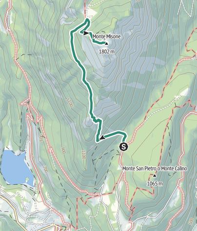 Cartina / Sulla cima del Monte Misone