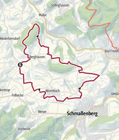 Map / Sauerland, Obernberndorf-Ebbinghausen12 apr. 2015