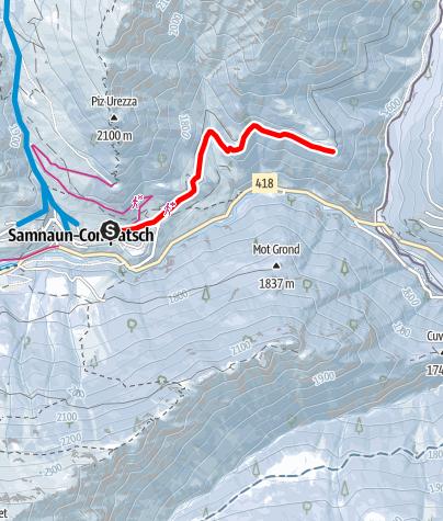 Map / Samnaun-Compatsch – Mottas Lungas (W1)