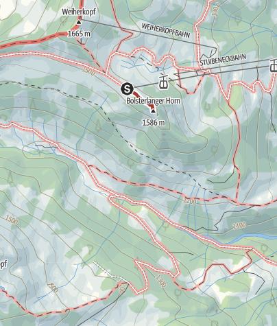 Map / Kunst- & Besinnungsweg an der Hörnerbahn in Bolsterlang