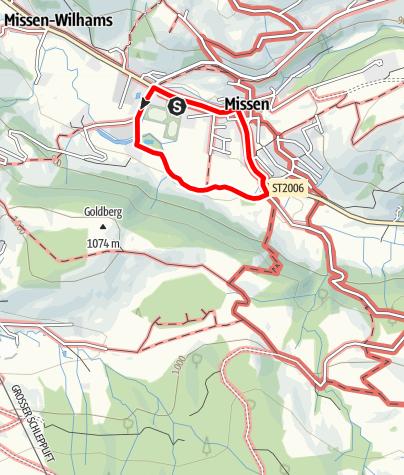 Karte / Terrainkurweg Missen-Wilhams Nr. 1