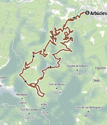Map / ARBUCIES mtb