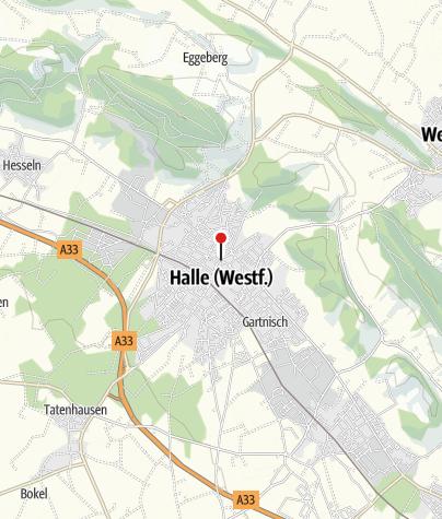 "Kaart / Halle Westfalen, Denkmal ""Haller Willem"" am Ronchin-Platz"