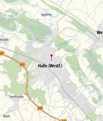 Kaart / Halle Westfalen, Kirchplatz