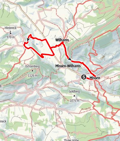 Karte / Terrainkurweg Missen-Wilhams Nr. 3