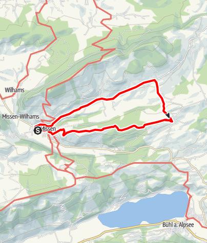 Karte / Terrainkurweg Missen-Wilhams Nr. 4
