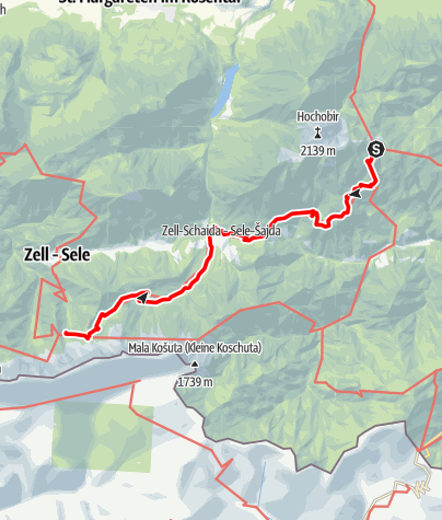 Map / 03 Südalpenweg, E10: Eisenkappler Hütte - Koschutahaus