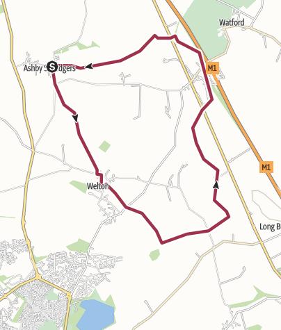 Map / Ashby St. Ledgers, Welton, Watford Locks