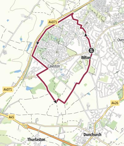 Map / Rugby Walk: Around Cawston