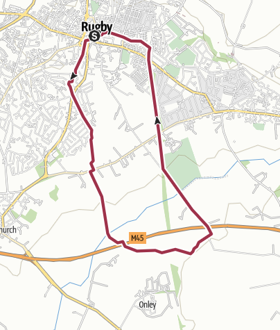 Map / Rugby Urban Walk: Rugby to Onley