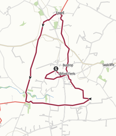 Map / The Sibfords, Epwell, and Ditchedge Lane