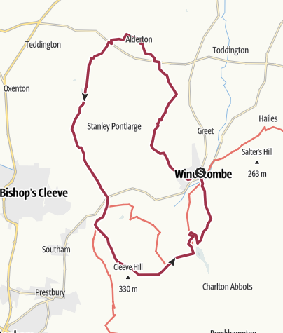 Map / Most of the West Winchcombe Way