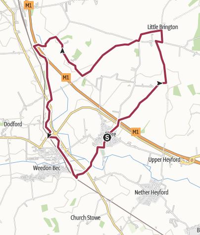 Map / Flore, Little Brington, Brockhall