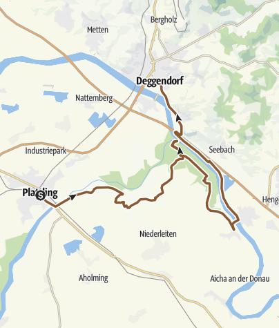 Map / Isar: Plattling - Isarmündung - Deggendorf