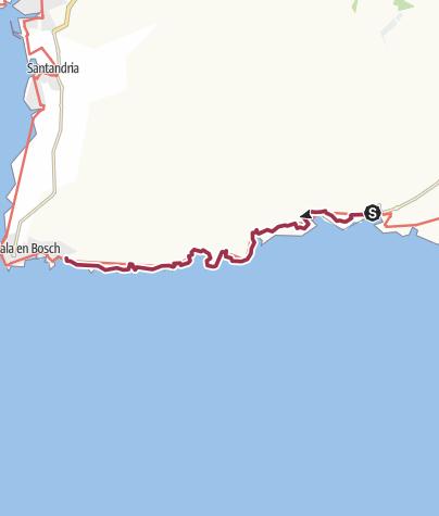 Карта / Minorque. Cala Galdana à Son Xoriguer