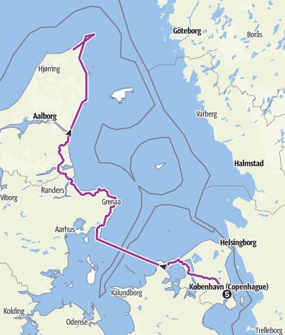 Hartă / Danemarke tour 1
