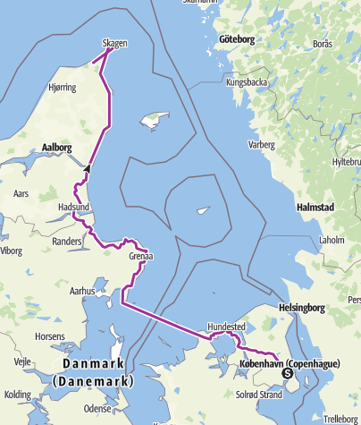 Carte / Danemarke tour 1