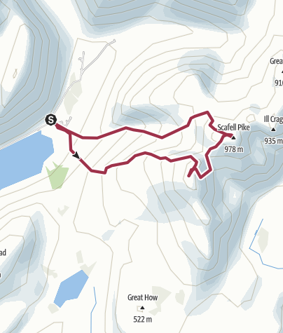 Map / Scafell via Lords Rake from Wasdale