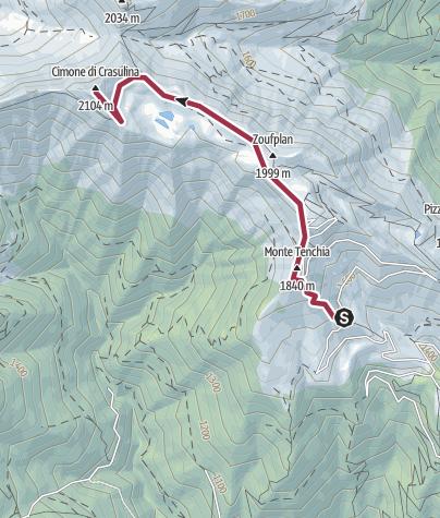 Map / Pian delle Streghe - Cimone della Crasulina
