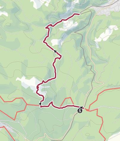 Map / Drei Annen Hohne bis Bahnhof Steinerne Renne