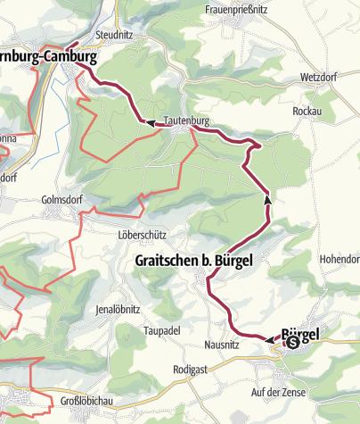 Map / Bürgel - Tautenburg - Dornburg