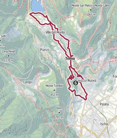 Karte / Von Varone zum Lago di Tenno